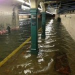 Subway system flooded in NYC